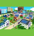 green environment friendly city scene vector image vector image
