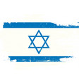 israel scratched flag vector image vector image