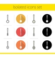 Kitchen instruments icons vector image vector image