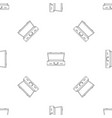 leather suitcase pattern seamless vector image vector image