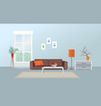 living room interior furniture design home vector image