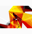 low poly style 3d triangle line vector image