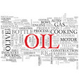 oil word cloud concept vector image vector image