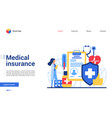 online medical insurance vector image vector image