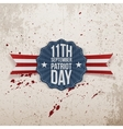 Patriot Day 11th September Tag vector image vector image