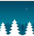 pine trees during winter vector image vector image