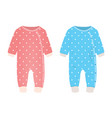 pink and blue baby romper vector image vector image