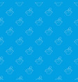 plant in pot pattern seamless blue vector image