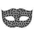 privacy mask mosaic of squares and circles vector image vector image