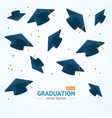 realistic detailed 3d education graduation concept vector image