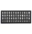 realistic scoreboard flip font latin alphabet vector image vector image