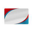 red and blue silver business card design vector image vector image