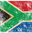 Republic of South Africa retro flag vector image vector image