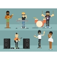 Rock band music group with musicians vector image vector image