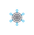 sailing linear icon concept sailing line vector image