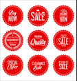 sale red modern stickers collection vector image vector image