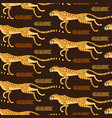 seamless pattern with running cheetahs leopards vector image vector image