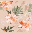 seamless rose and eucaluphtys branch tropical vector image vector image
