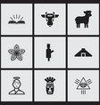 Set of 9 editable religion icons includes symbols