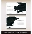 Set of abstract business card with place for your vector image vector image