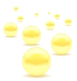 Set of Yellow Pearls vector image vector image