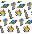 space embroidery patch seamless pattern vector image