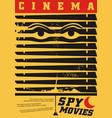 spy movies cinema festival creative poster vector image