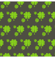 St Patrick Day clover seamless pattern vector image vector image
