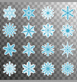 stickers snowflake icon set isolated on a vector image