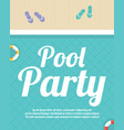 summer night beach party poster vector image vector image