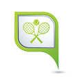tennis2 GREENpointer vector image vector image
