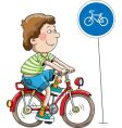 the boy on a bicycle vector image