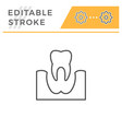 tooth removal editable stroke line icon vector image vector image