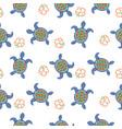 tortoise decorative seamless pattern vector image vector image
