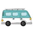 travel van vehicle icon vector image vector image