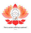 uddha saying namaste while sitting on a lotus vector image vector image