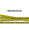 under construction banner realistic black and vector image vector image