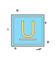 underline icon design vector image