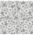 Unique pattern with doodle flowers vector image vector image