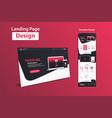 website landing page design web analytics website vector image vector image