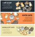 world of cute cats promotional internet posters vector image vector image