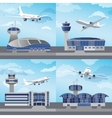 Airport building with control tower vector image