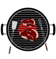 Barbecue grill top view vector image
