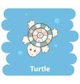 Cartoon cute turtle vector image