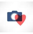 Camera icon I love photography vector image