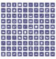 100 harmony icons set grunge sapphire vector image vector image