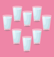 8 glasses of water a day vector image vector image