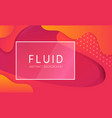 abstract fluid background with glass frame vector image