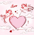 angel amyr little baby set cupid shoots a bow vector image vector image