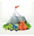 Backpacking vector image vector image
